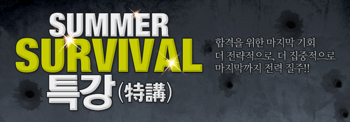 배너 SUMMER SURVIVAL 특강