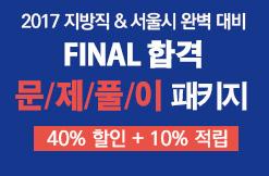 2017 서울시,지방직대비 FINAL합격 문제풀이 패키지